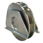 wheel for sliding gates with square closed support to weld