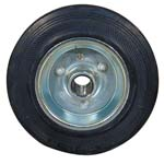 standard rubber wheel with pressed steel disc