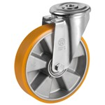 polyurethane wheel, swivel bracket with bolt hole type