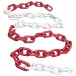 plastic red-white chain