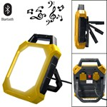2400 lumen led work flood light with bluetooth speaker  ref. kl2400-blth30w