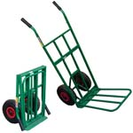 folding sack trolley with pneumatic tyres