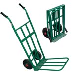 folding sack trolley with rubber tyres