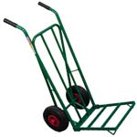 sack trolley with pneumatic wheels and folding foot-plate