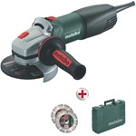 metabo pack 1000 watt angle grinder mod. wq 1000 + 2 diamond discs