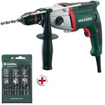 850 watt electronic impact drill with double speed metabo mod. sbe 850