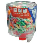 polyurethane disposable ear plugs with dispenser mod. 7825