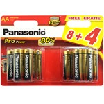 blister of 12 alkaline batteries panasonic lr6 de 1,5 v.