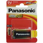battery alkaline panasonic 6lr61 de 9 v.