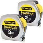 metal case measuring tape powerlock with brake and 12,7 mm. tape