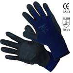 nylon gloves nitrile coated mod. 380 nbr