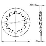 Internal tooth lock washer Form